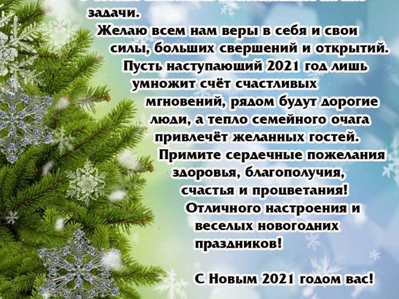 С новым годом! Поздравление председателя Молодежного совета Профобъединения
